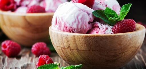 Guilt-Free Raspberry Supreme Ice Cream (Recipe)