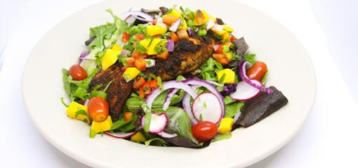 Salmon Mango Salad Recipe from Superior Grill