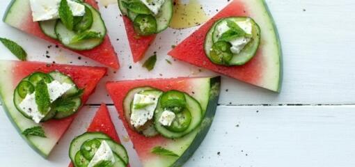 Watermelon, Mint, Cucumber and Feta Wedge