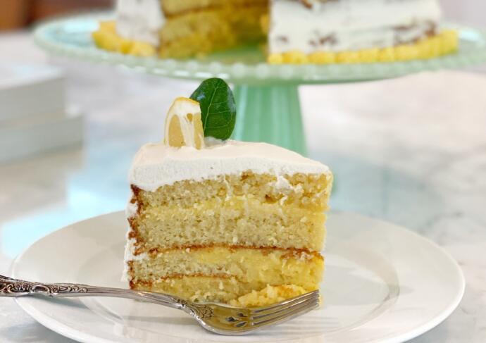 Gluten Free Lemon Cake Slice