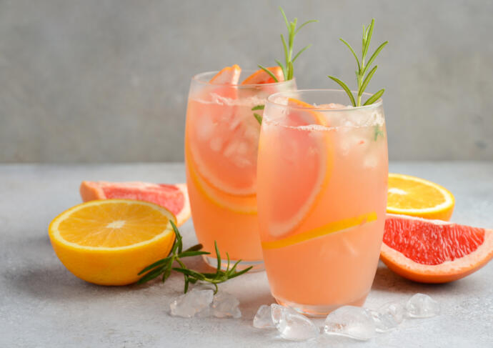 Grapefruit Pickle Juice Mocktail Recipe