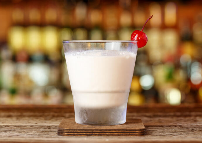 Tahini Milkshake Zero Proof Cocktail Recipe