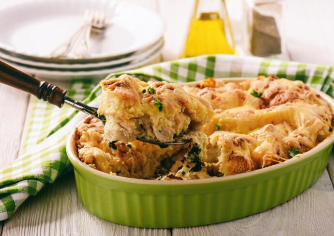 Chicken brunch bake