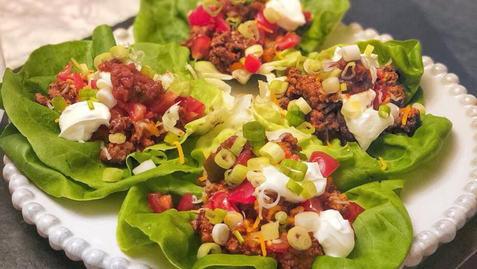 Lettuce wrapped taco