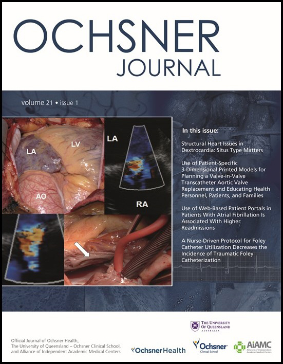 Ochsner Journal 2021 Spring Cover