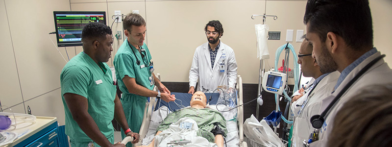 Internal Medicine Residents in Simulation Center Training