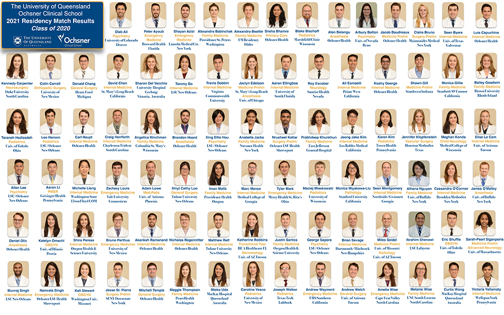 Ochsner Clinical School - 2021 Match