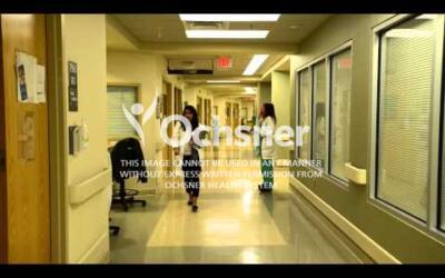 B-roll of Ochsner hospital interiors