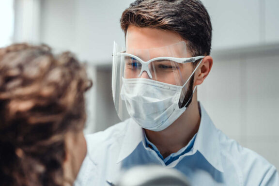 Man with Safety Goggles