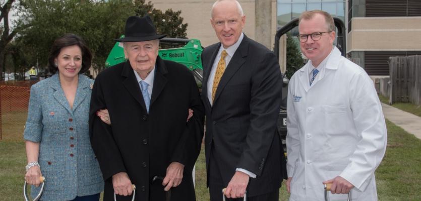 Gayle and Tom Benson and Ochsner Cancer Team Break Ground on $20 Million Cancer Center Expansion