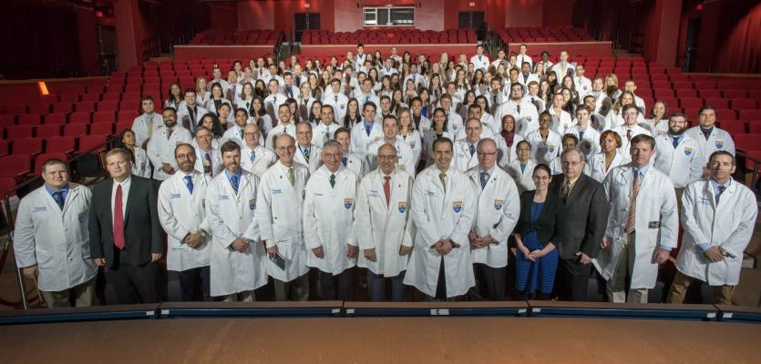 Ochsner Clinical School Recognizes Largest Class to Date with White Coat Ceremony