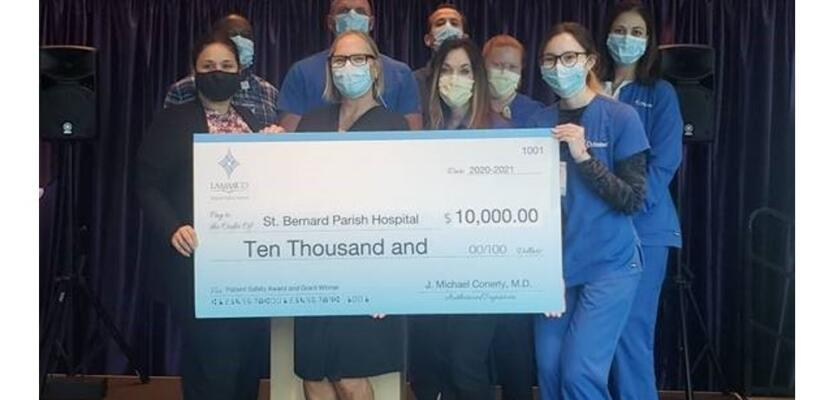 St. Bernard Parish Hospital Honored with LAMMICO's 6th Annual Patient Safety Award and Grant