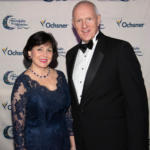 Moonlight & Miracles Gala Chair, Gayle Benson, with Warner Thomas, President and CEO of Ochsner Health System.