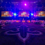 The floor of the Mercedes-Benz Superdome just before the start of the 2018 Moonlight & Miracles Gala.