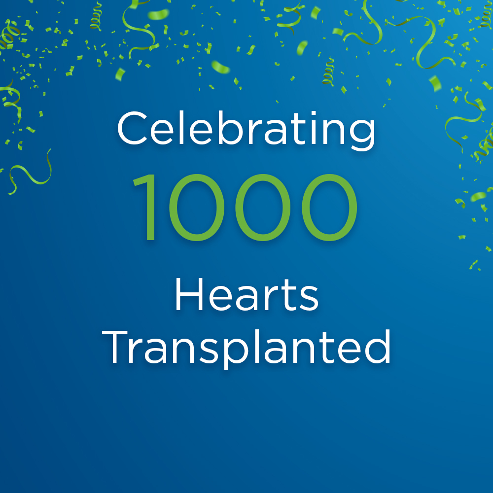 1000 heart transplants