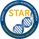 The offical seal of the Ochsner STAR program displays a DNA double helix.