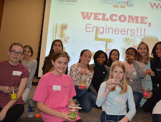 New Orleans student enjoy Ochsner Girls in Engineering Day